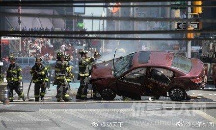 纽约时代广场汽车冲撞行人视频现场图1人遇难多人受伤司机罗哈斯疑图片