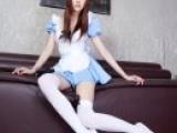 性感腿模白丝袜女仆装诱惑