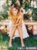 性感女星伊娃・门德斯半裸上阵大秀美胸全新写真